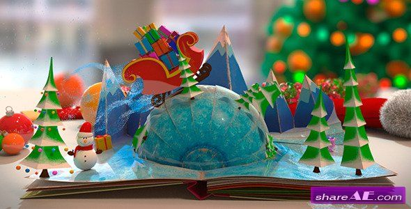 Christmas Pop Up Book After Effects Project Videohive Free Download After Effects Projects Stock Footage And Motion Graphic Papier Pop Up Card Pop Up