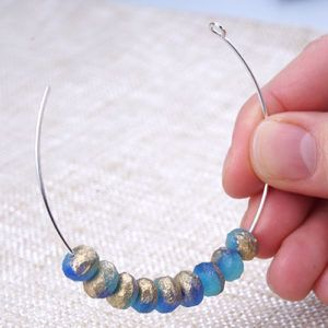 Photo of Extra Heavy Duty Memory Wire Hoop Earrings – Tutorial –