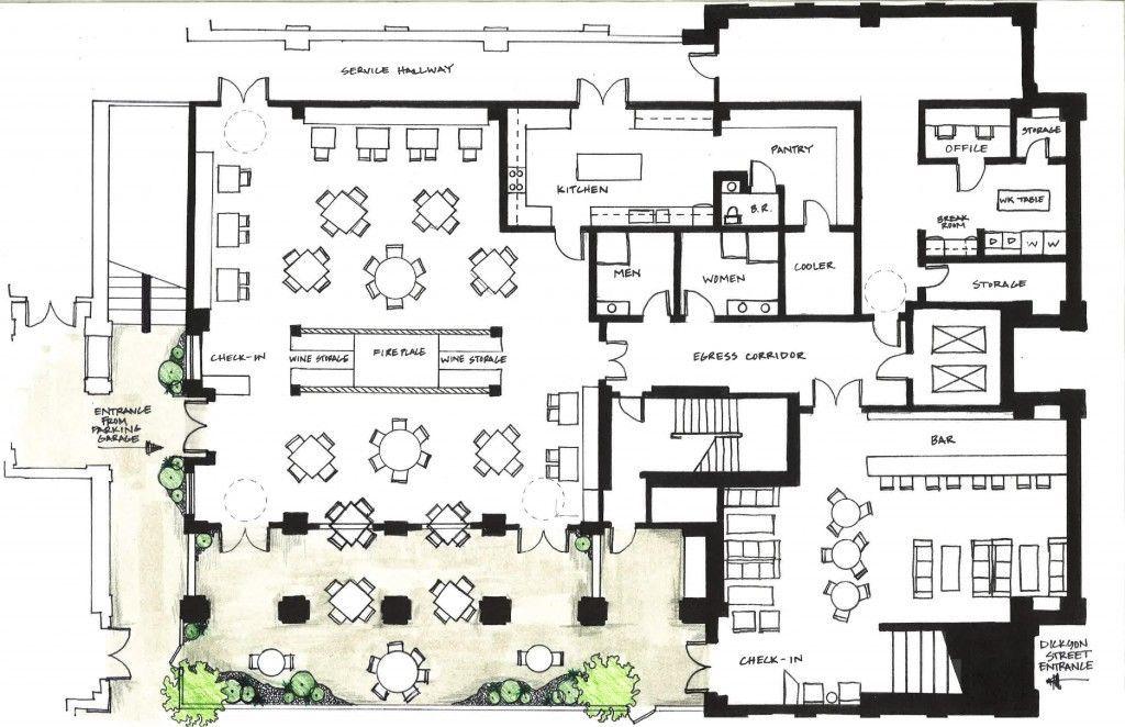 Resultado de imagen de Restaurant Floor Plan Layout (con