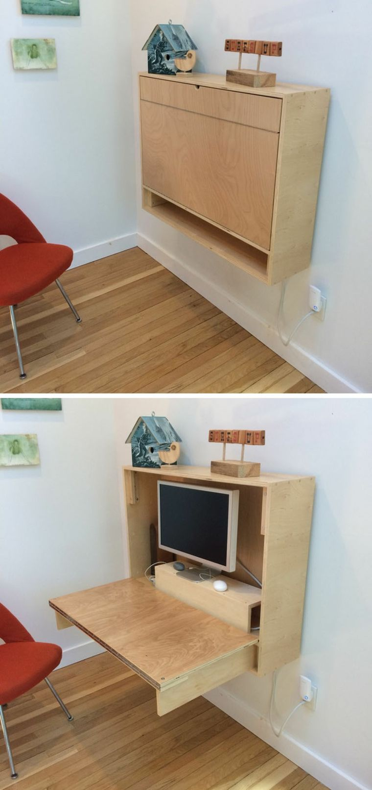 Wall Mounted Desks For Small Spaces Mesa De Escritorio Flotante Ideas Estupendas Para Una Oficina En