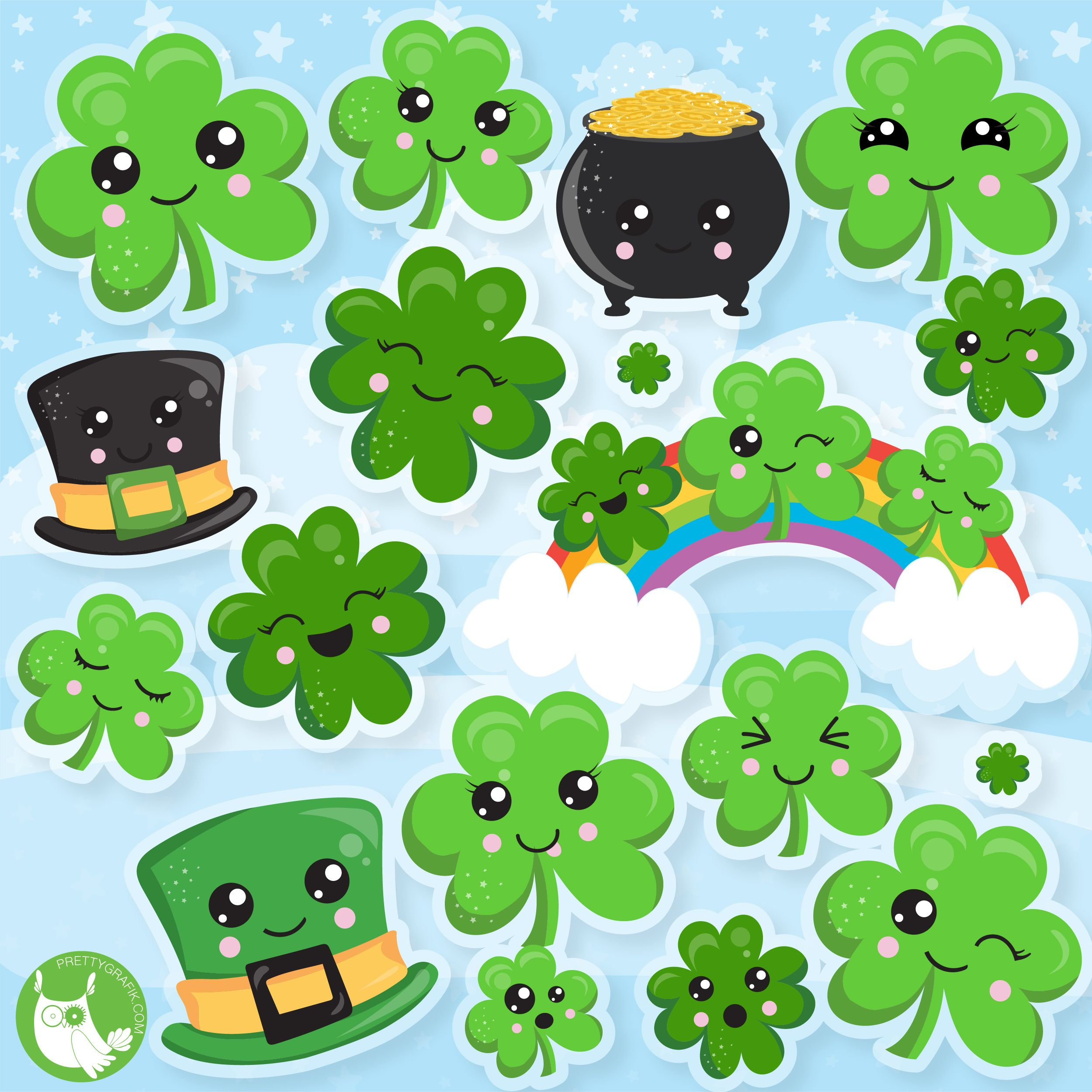 New Clipart Release St Patrick S Day Clovers Graphics