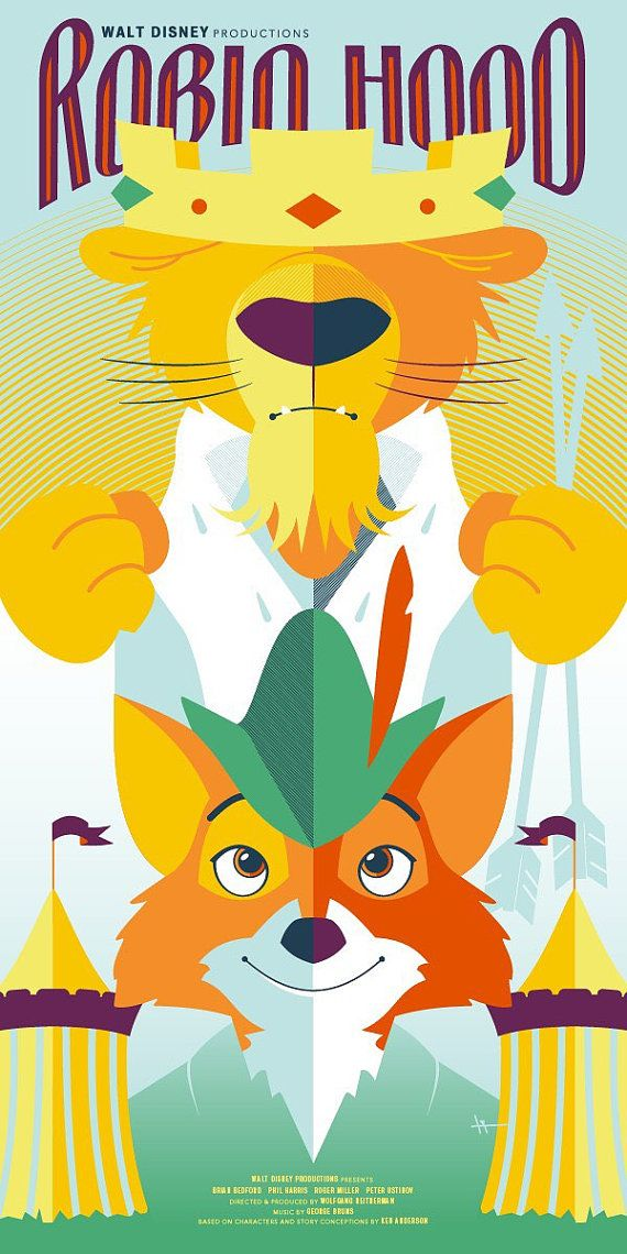 Disney S Robin Hood 12x24 Giclee Robin Hood Pinterest