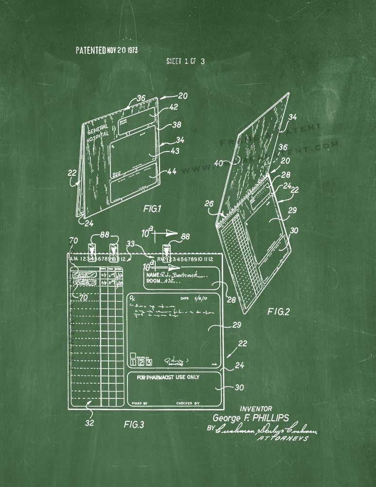 Pin by Frame a Patent on Other Medical Patent Prints (With