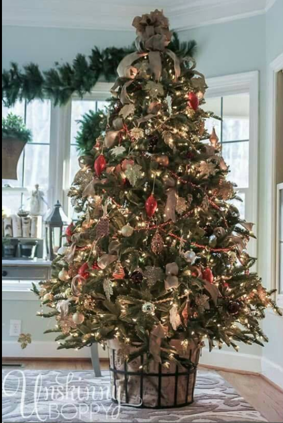 Real Christmas Tree Basket Skirt Trees With Burlap