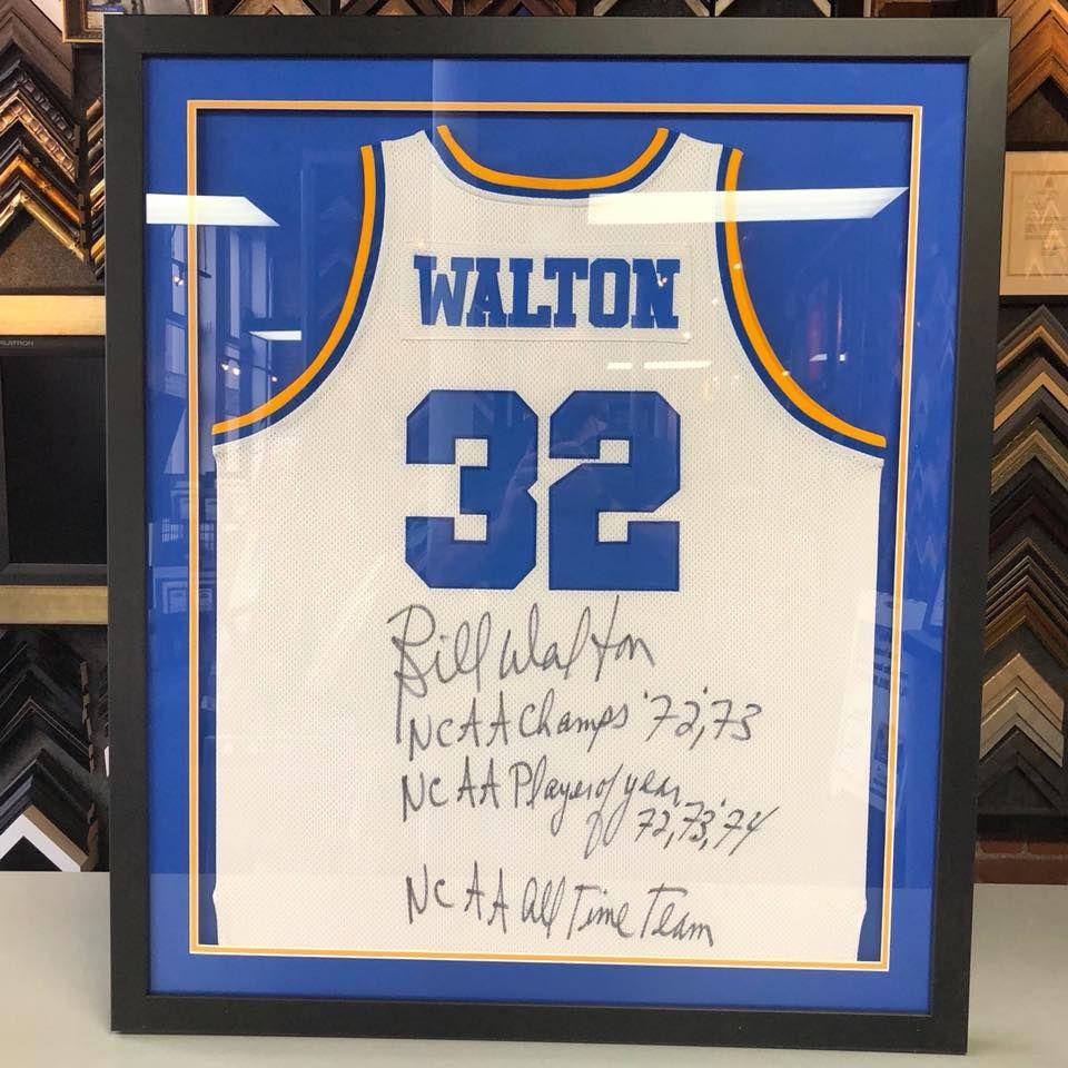 new styles 9fa4d 11a8f Custom framed Bill Walton UCLA Men's Basketball jersey using ...