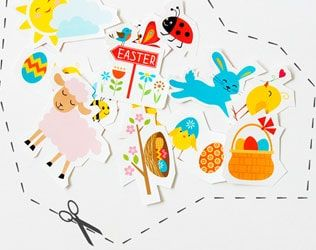 free printable easter stickers with images  easter