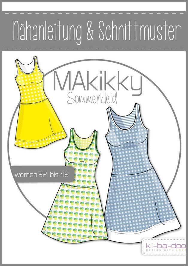 Papierschnittmuster MaKikky - Sommerkleid Gr 32-48   Pinterest ...