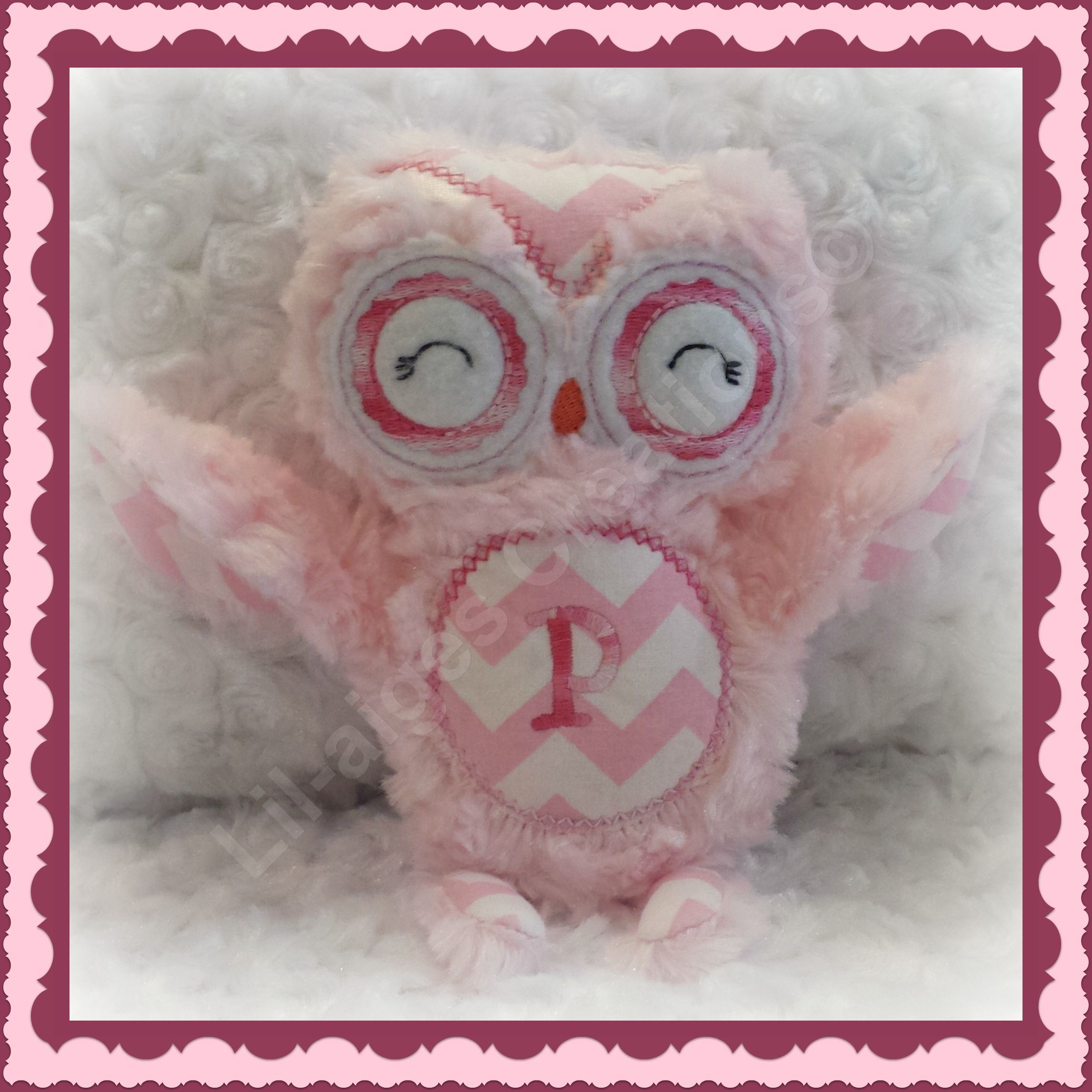 Gorgeous lil pink owl handcrafted by Lil-aiges Creations