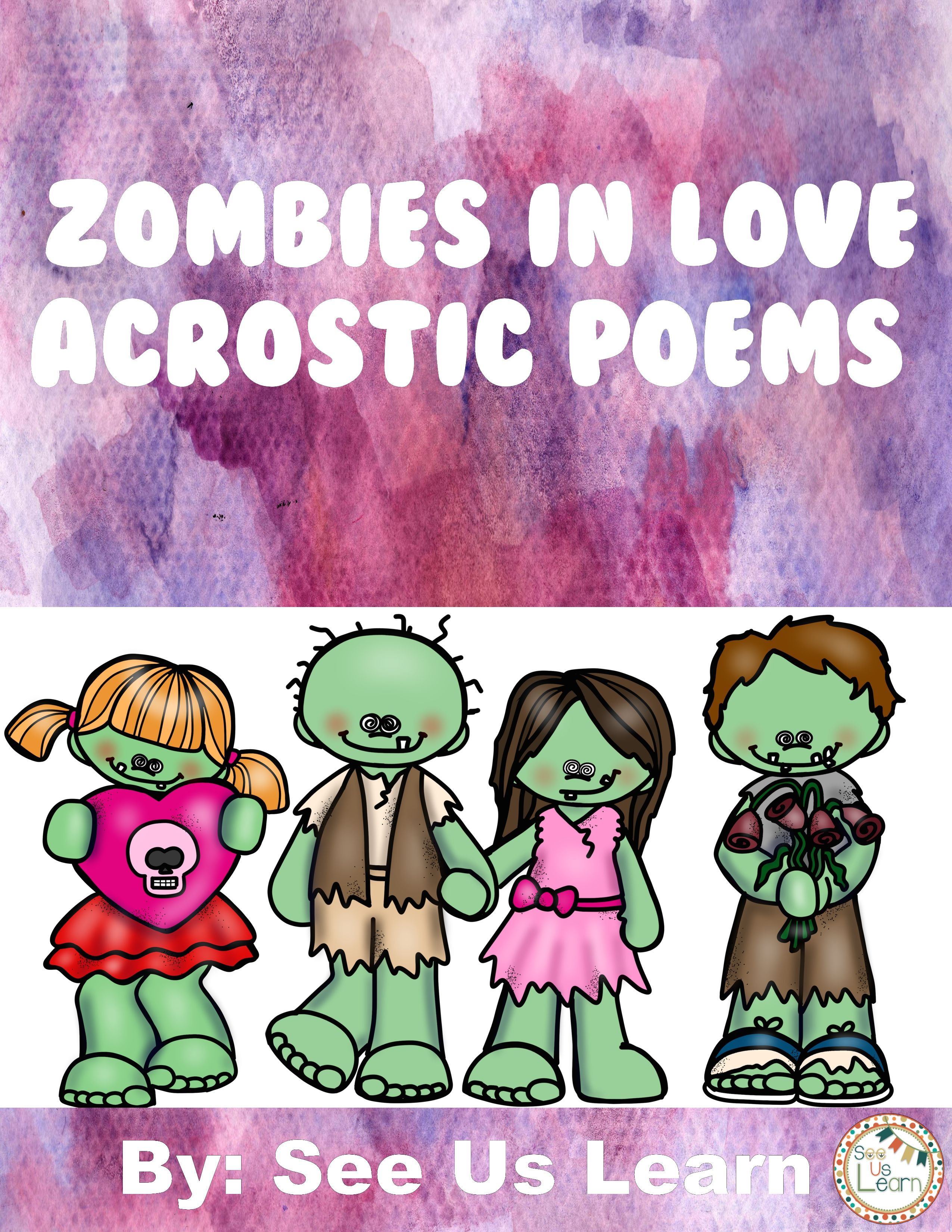 Zombies In Love Acrostic Poems