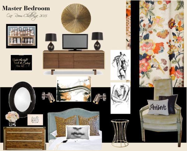 One Room Challenge Master Bedroom Makeover | Eclectic master bedroom ideas | Moody Bedroom Moodboard