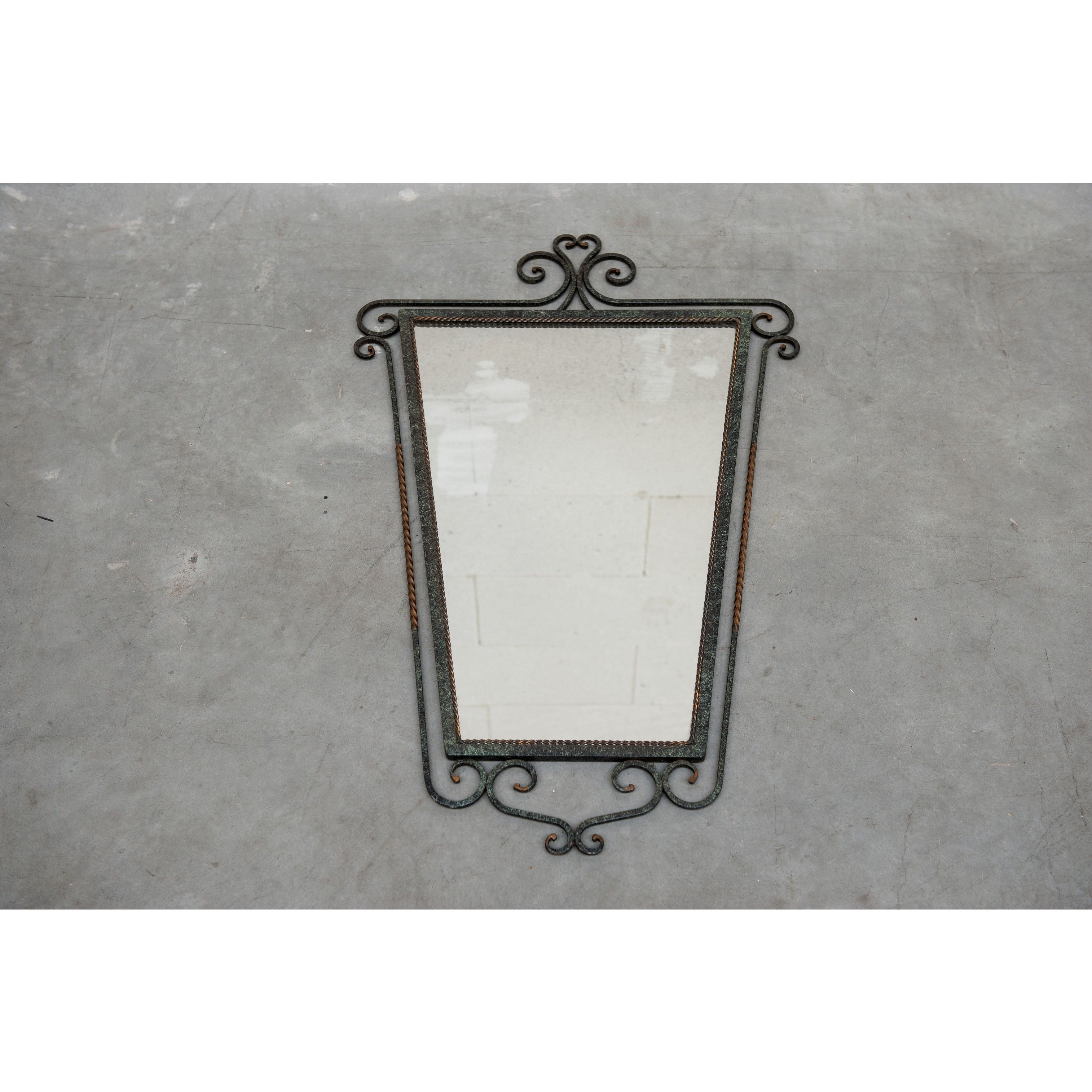curled framed mirror | Oddities | Vintage Furniture | Scotch Collectables
