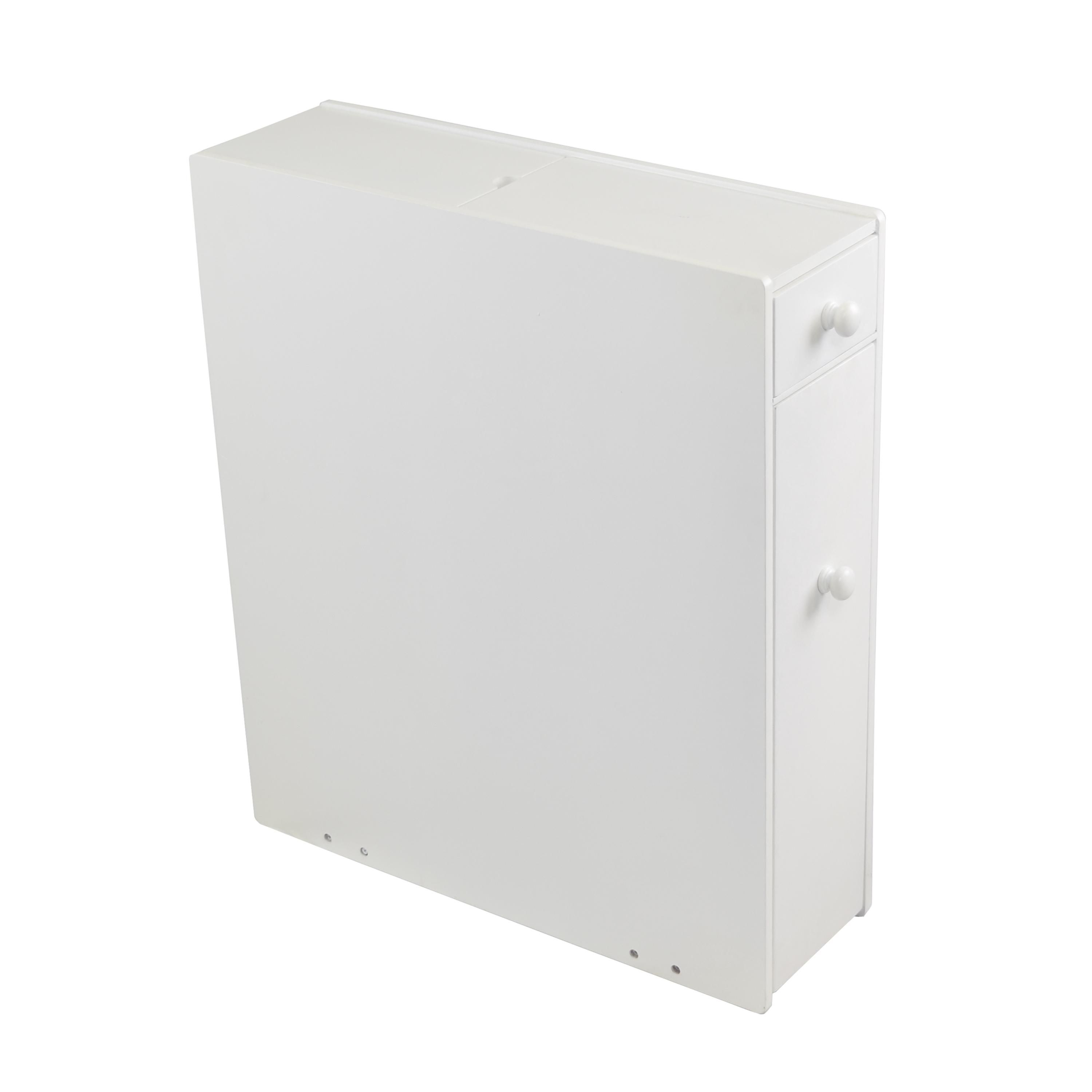 Proman Products Bathroom Floor Cabinet Wood in Pure White | Home ...
