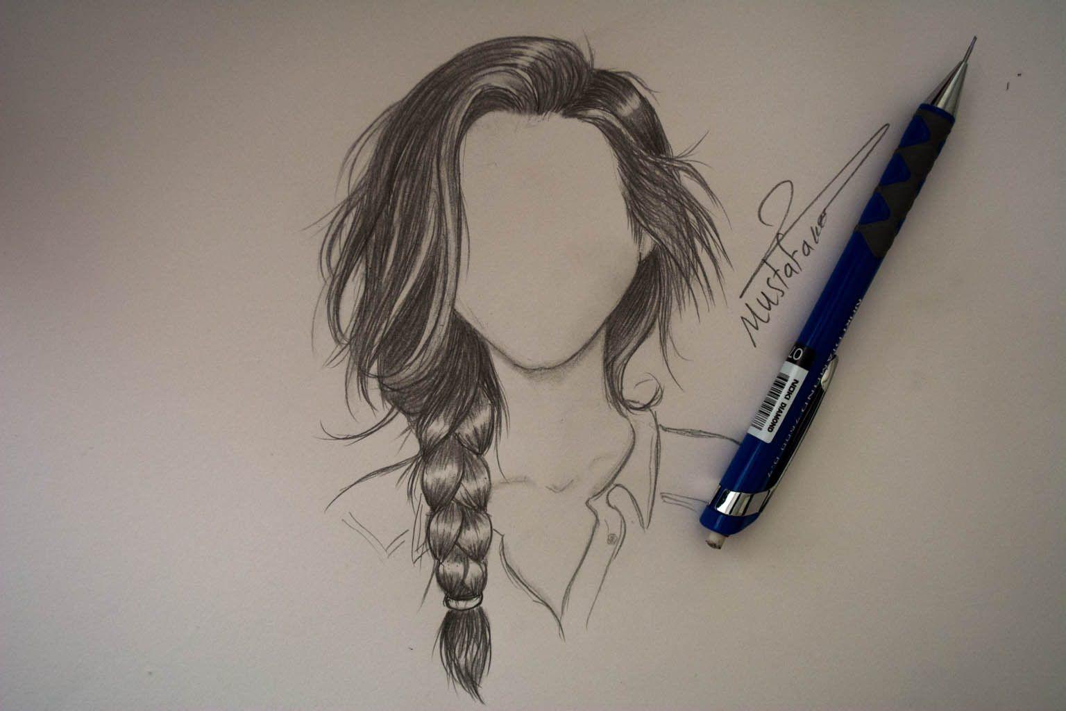 رسم الشعر بالرصاص بتسريحة الظفيرة How To Draw Hair Eye Drawing Easy Drawings