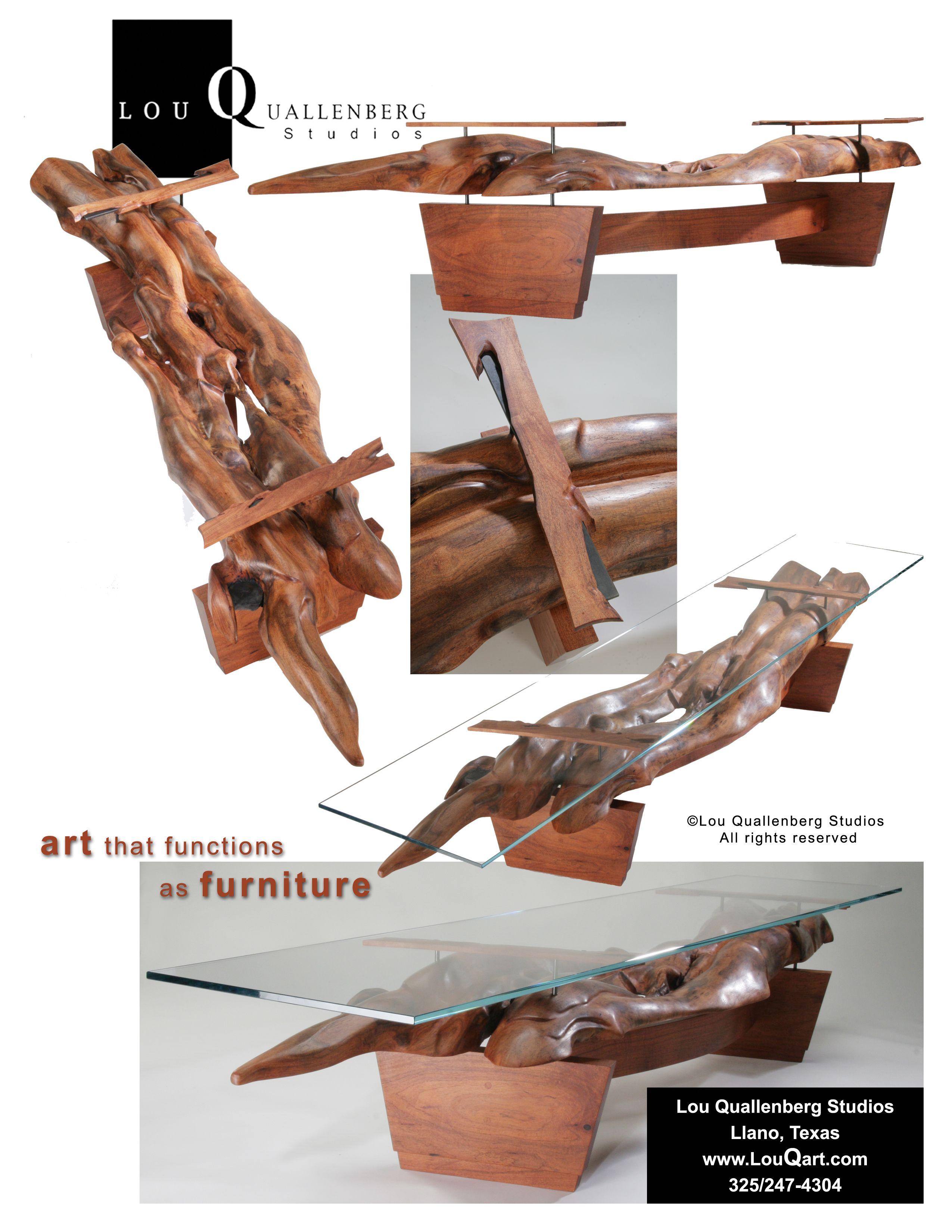 Curves Mesquite Table By Lou Quallenberg Live Edge