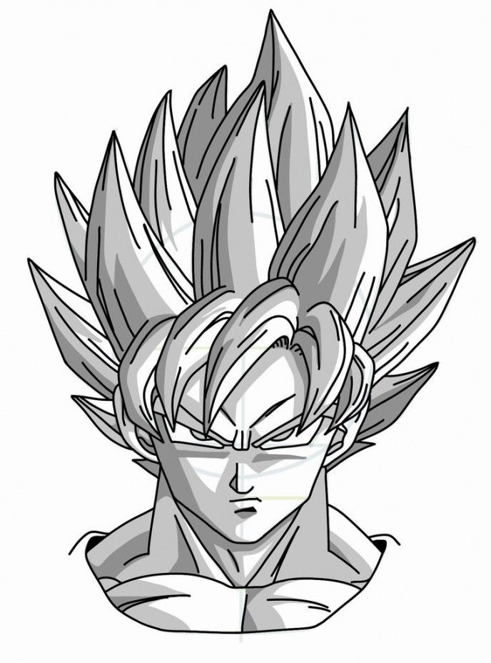 How To Draw Manga Goku Super Saiyan From Dragonball Z How To Draw