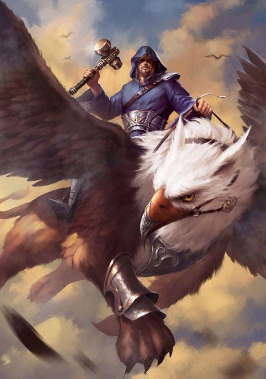 Gryphon rider (Opinicus) | Greifen | Fantasy beasts ...