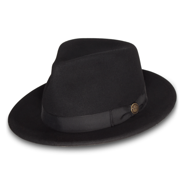 d9a65ccd The Doctor is our classic wide brim fedora from the Heritage line. This  gentleman's hat is made in America of felted wool and now comes in black.