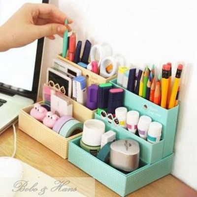 Cute Diy Desk Organizer Desk Organization Diy Room Diy Diy Organization