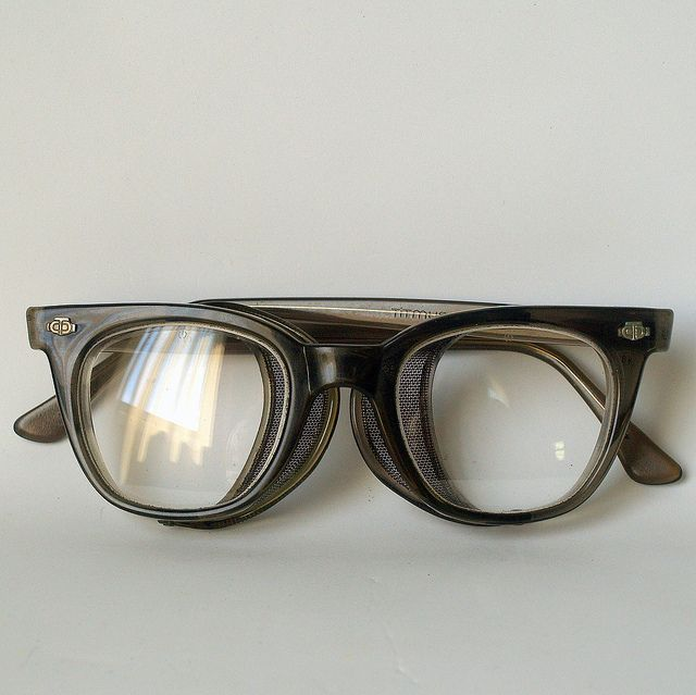 50s cool safety glasses vintage titmus industrial blue