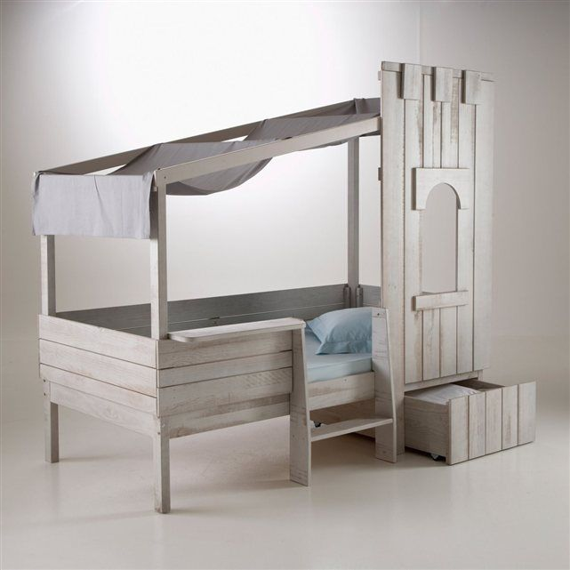lit enfant ch teau fort pin massif zeya la redoute. Black Bedroom Furniture Sets. Home Design Ideas