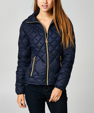 Another Great Find On Zulily Dark Navy Zipper Quilted Jacket By