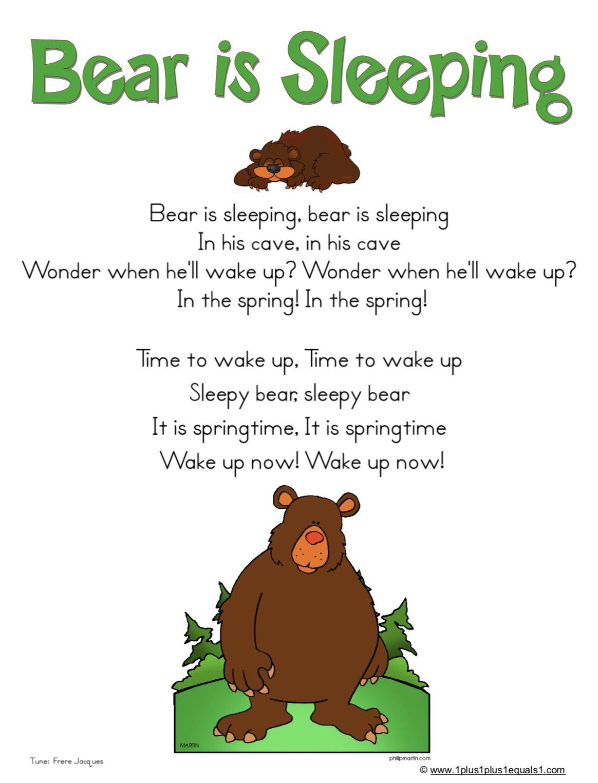 Bear Hibernation Song Preschool Circle Time Preschool Songs Bears Preschool