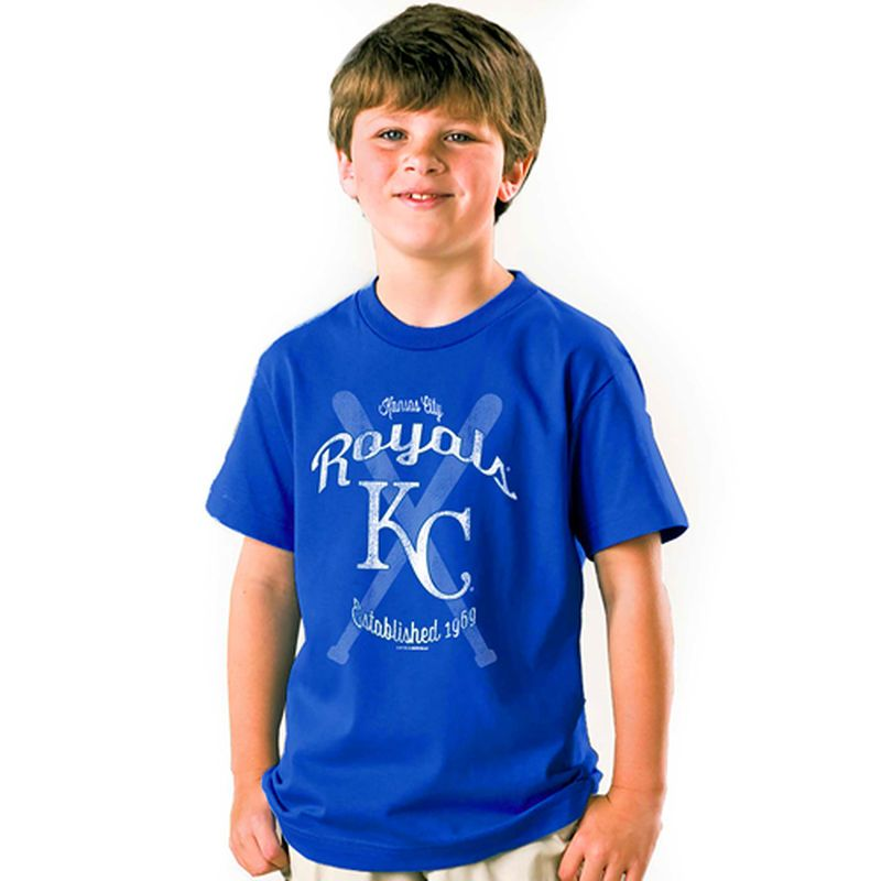 Kansas City Royals Soft as a Grape Youth Crossed Bats T-Shirt - Royal