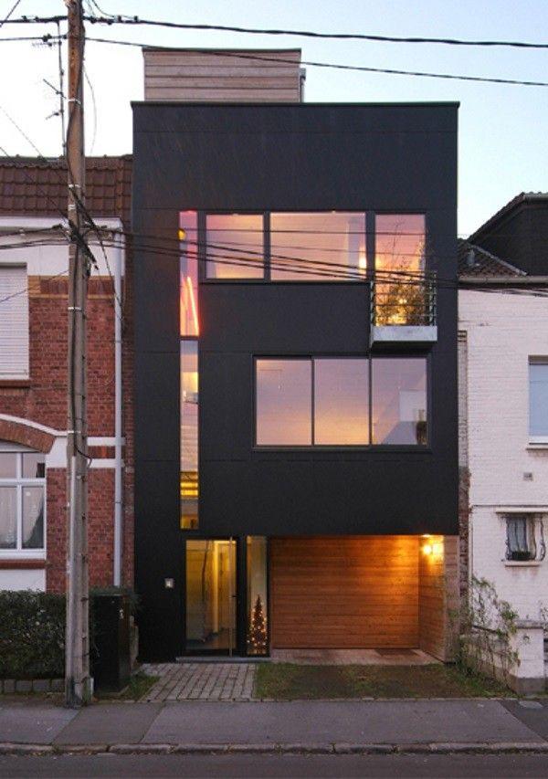 maison de ville contemporaine wasquehal architecture. Black Bedroom Furniture Sets. Home Design Ideas