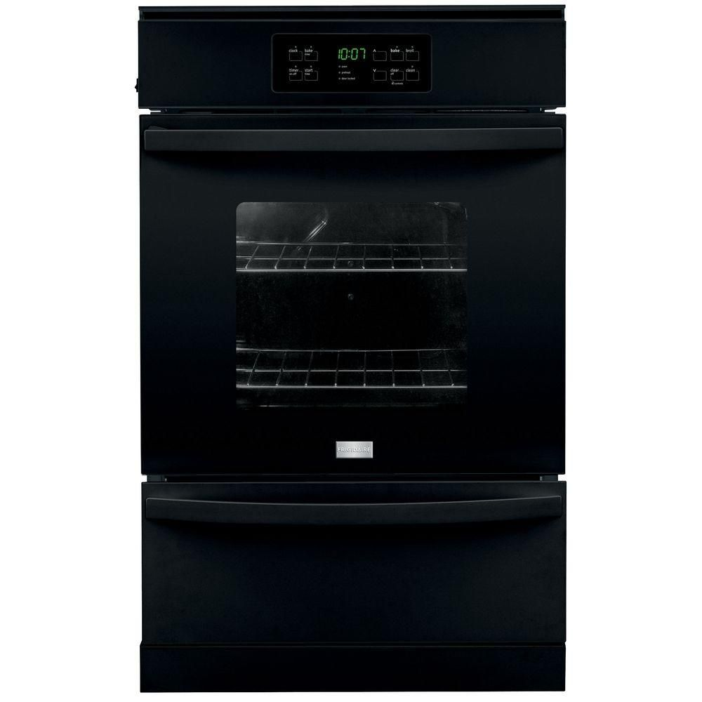 Frigidaire 24 In Single Gas Wall Oven Self Cleaning In Black