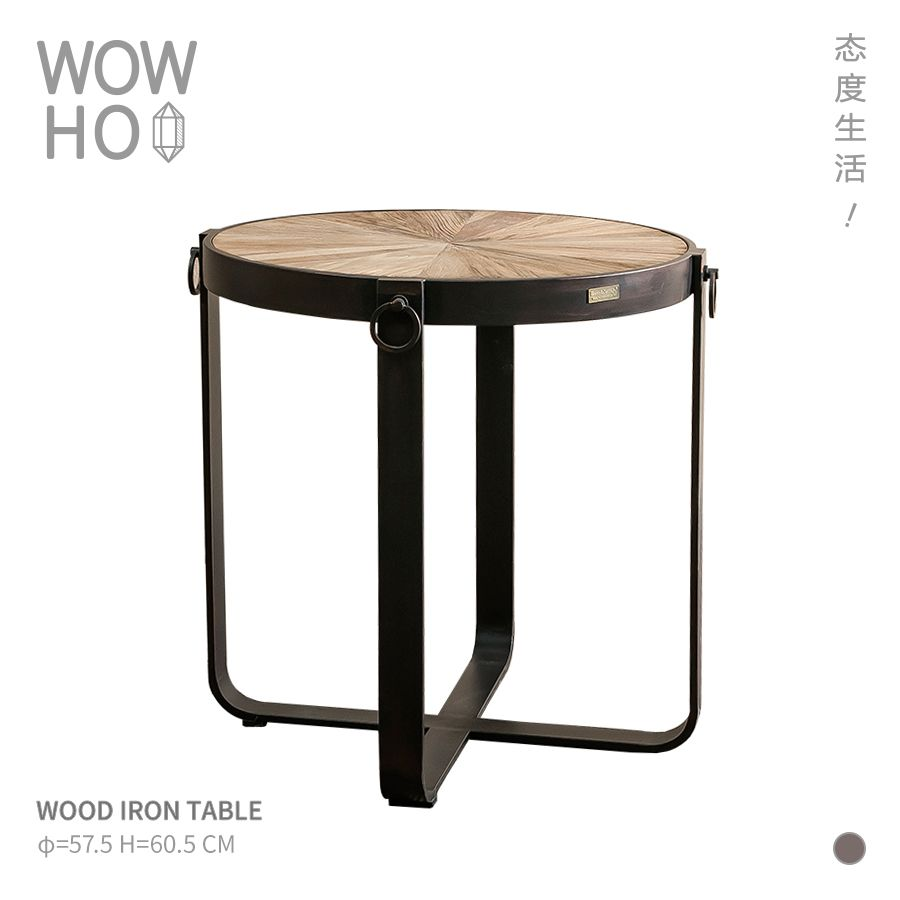 Family Roomdesign Ideas: [WOWHOO] WOOD IRON TABLE Light Industry Very Simple Retro
