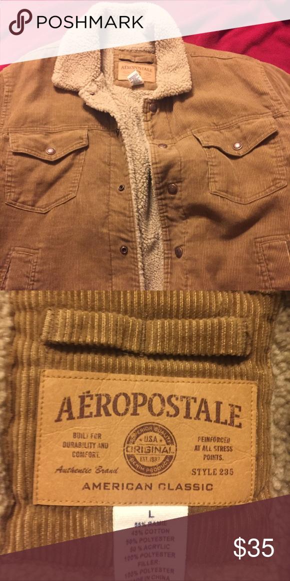 Aeropostale Corduroy faux sheepskin jacket Size large Aeropostale Jackets & Coats Utility Jackets