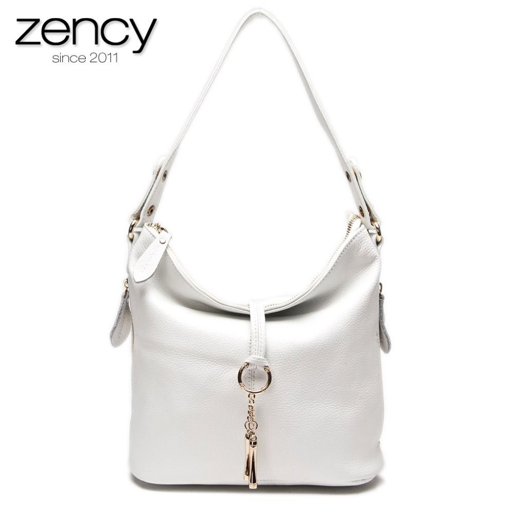 Photo of US $35.82 55% OFF|Zency New Fashion Women Shoulder Bag Metal Tassel 100% Genuine Leather Lady Crossbody Messenger Elegant Gift Handbag Black White|bolso hombro mujer|designer handbagsfashion handbag – AliExpress