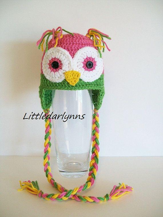 Cute crochet owl hat | Gorros Ganchillo | Pinterest | Gorros, Tejido ...