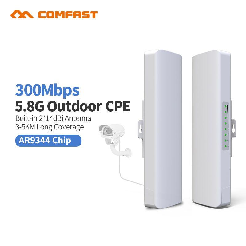 2Pcs 5 8G COMFAST CF-E312A Wireles outdoor CPE poe access point