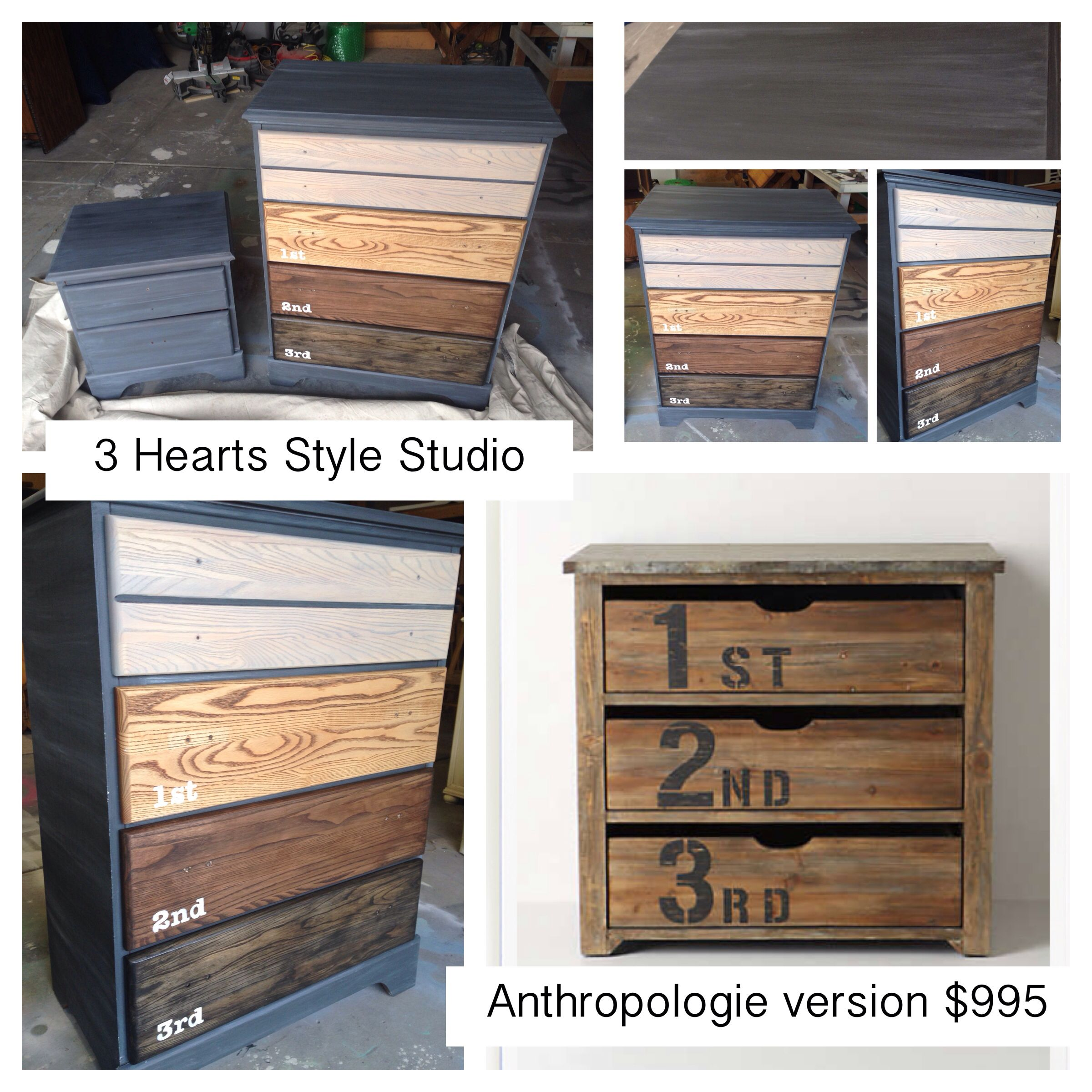 diy furniture refinishing projects. Ombré Stained Drawers With Restoration Hardware Inspired Graphite White Wash Exterior. New Handles Will Be Metal Airplanes. Diy Furniture Refinishing Projects I