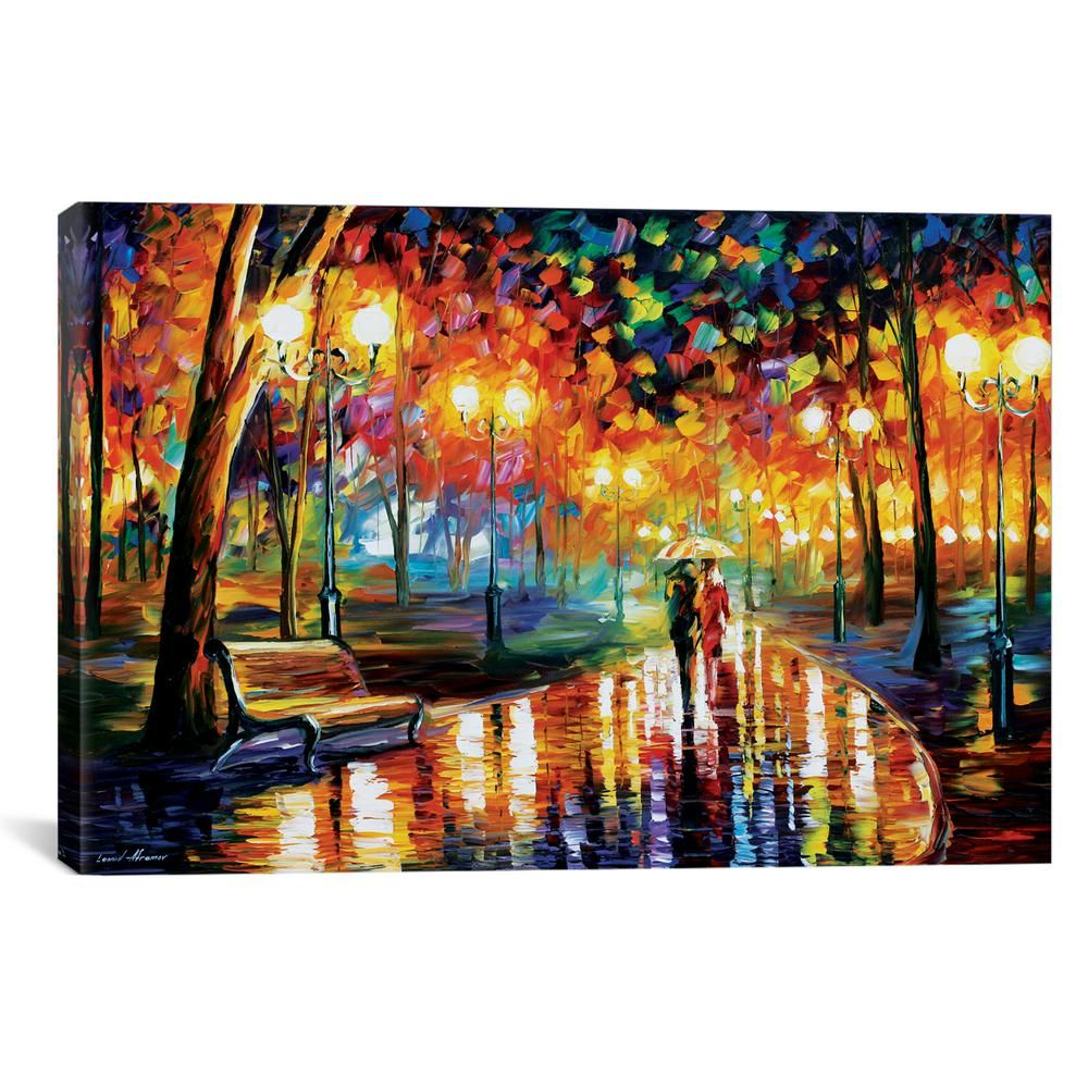 icanvas rains rustle i by leonid afremov wall art lea63 on home depot paint sales this week id=29850