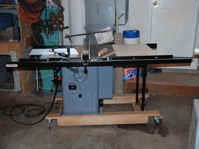 homemade mobile base for unisaw | Mobile Bases for Machinery ...