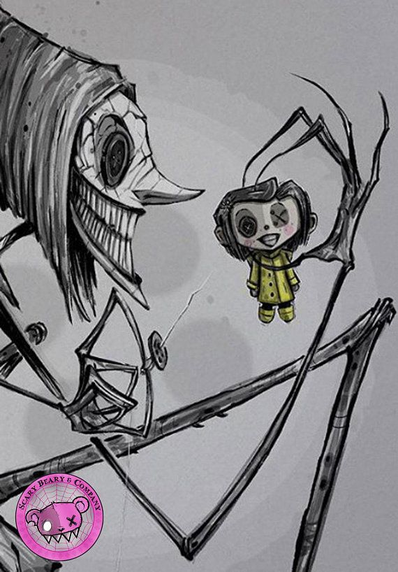 Coraline Other Mother Beldam Art Print Etsy In 2020 Scary Drawings Coraline Art Coraline Drawing