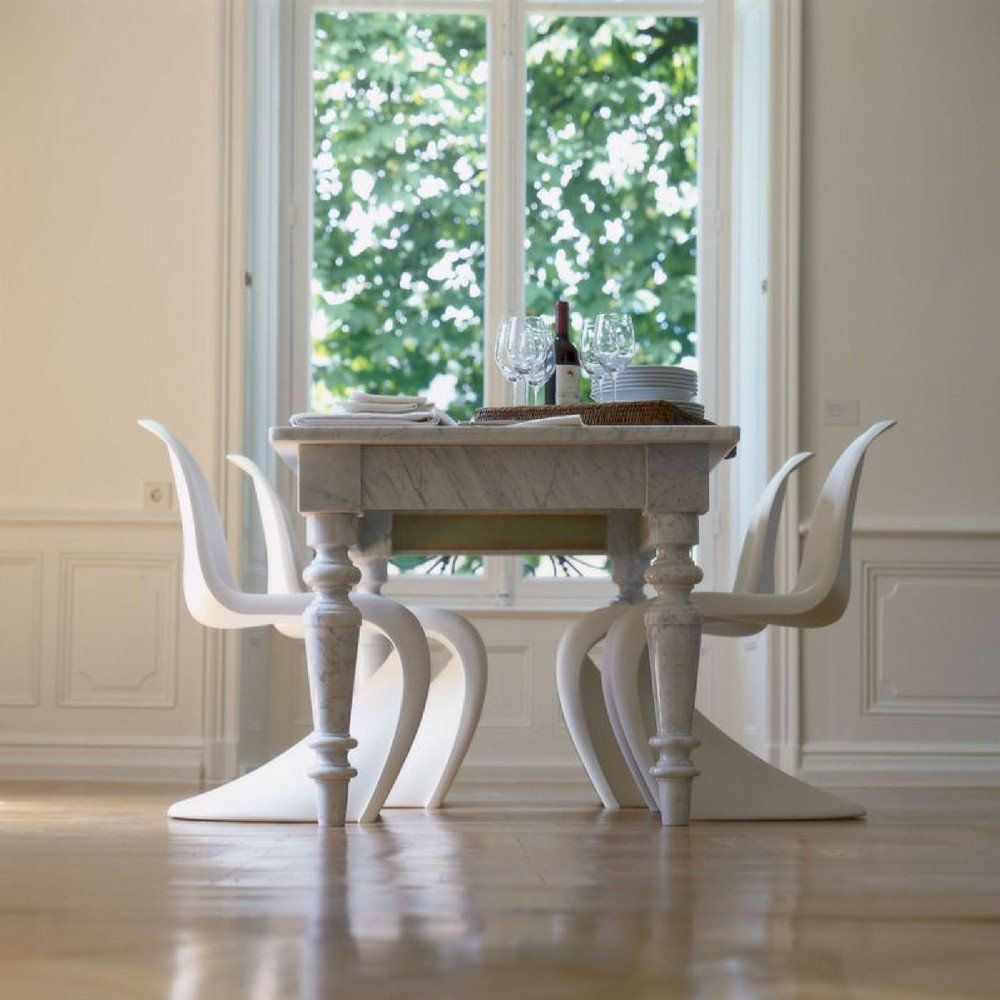 Panton Chair White Dining Chairs Dining Table Marble Traditional Dining Tables