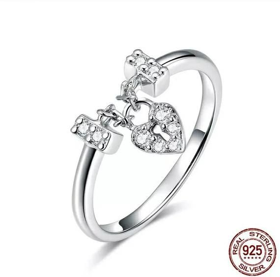 Cute Jewelry Gift for Women in Gift Box Glitzs Jewels 925 Sterling Silver Ring Turtle