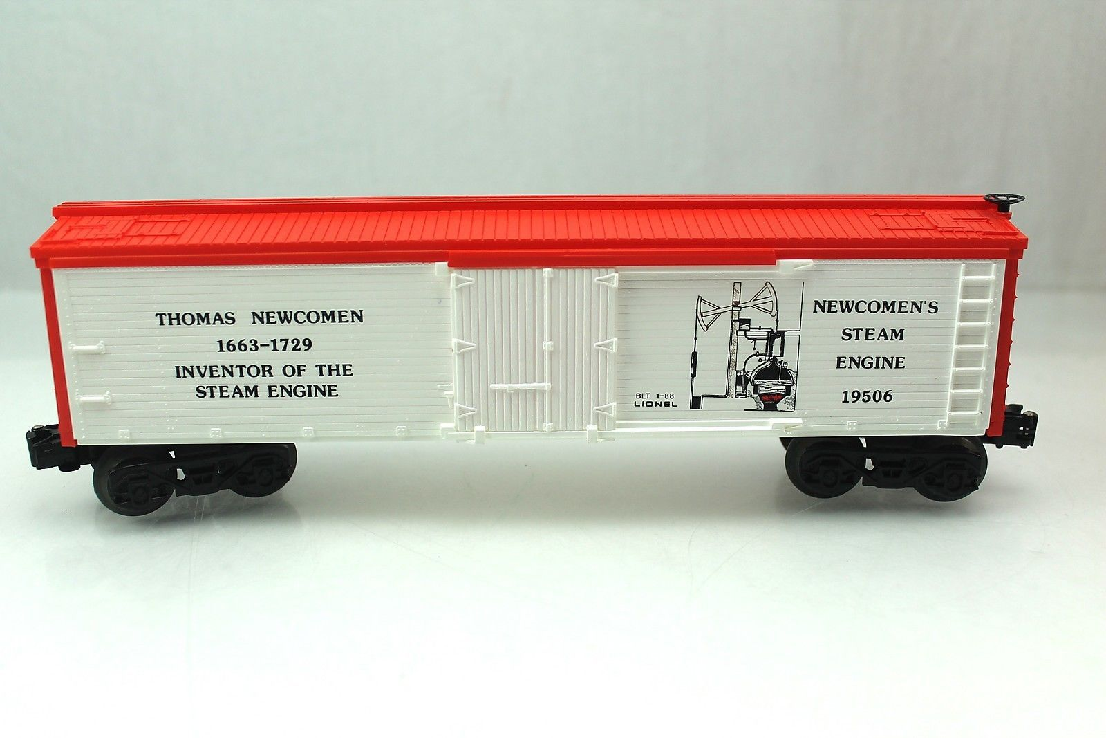 O Lionel 19506 Thomas Newcomen Steam Engine Inventory Box Car Reefer 6 19506 Box Car Steam Engine Engineering