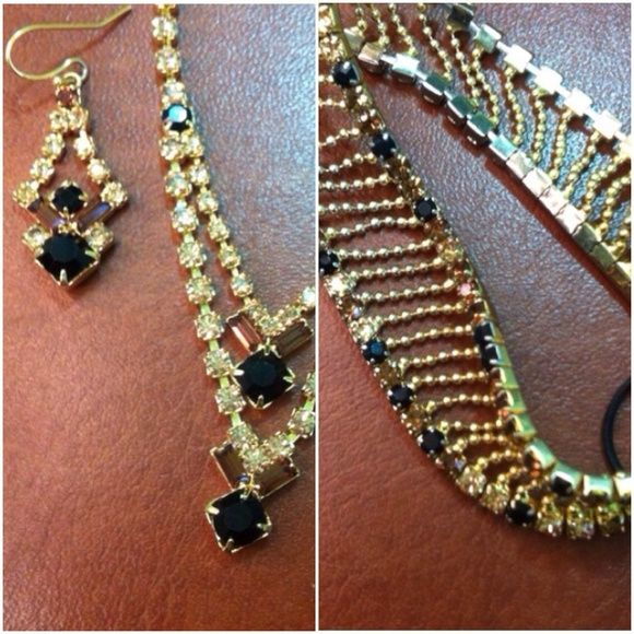 Pursuits Ltd. necklace, earrings and bracelet High quality rhinestone necklace, earrings and bracelet set. Pursuits Ltd  Jewelry