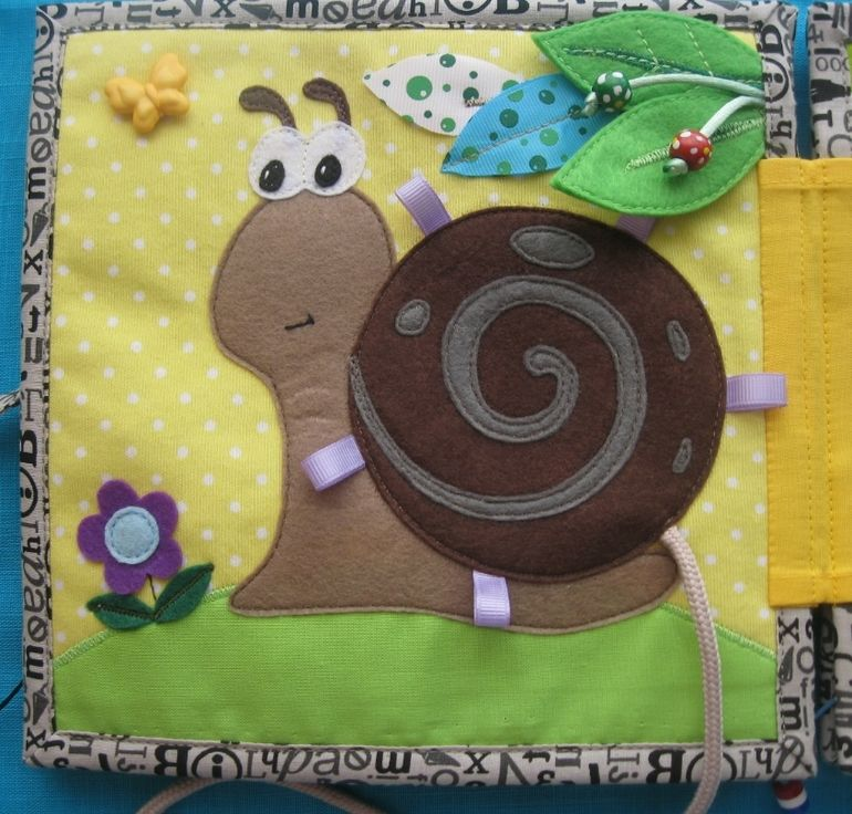 Cute snail busy book page