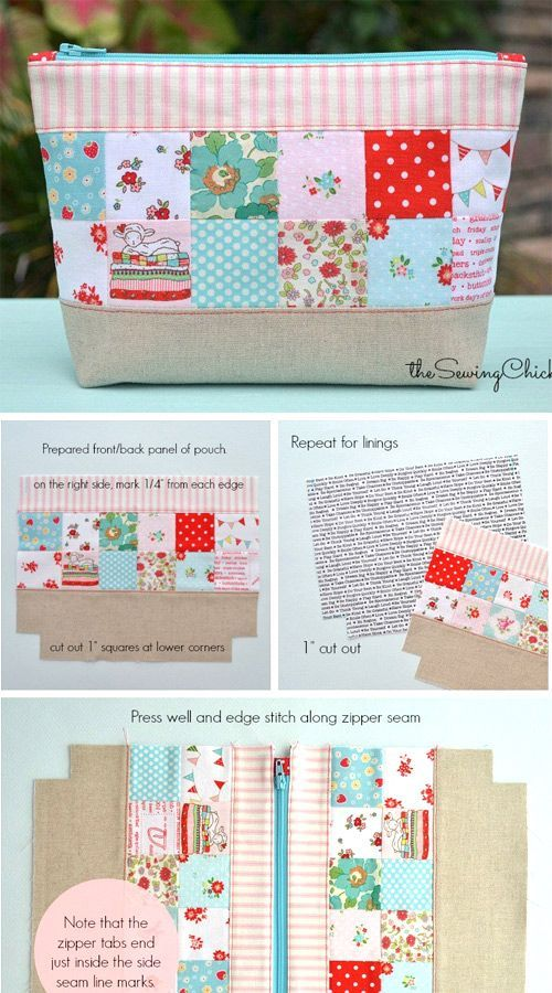 Photo of Patchwork-Reißverschlusstasche Tutorial #patchwork #pack # Tutorial #newing – schnittmuster