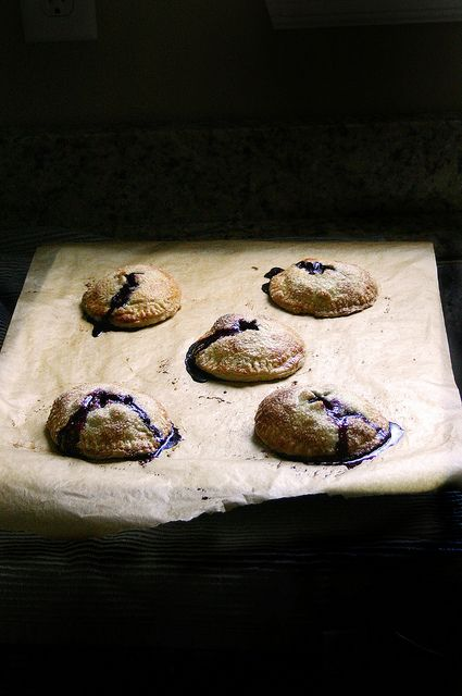 blueberry, basil, & goat's cheese pies