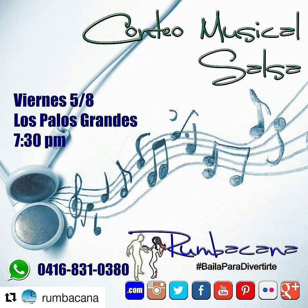 #Repost @rumbacana Aprende Conteo Musical para #Salsa. Viernes 5/8 en Los Palos Grandes a las 7:30pm Invita un amigo al #SanoVicioDeBailar  #Rumbacana #BailaParaDivertirte