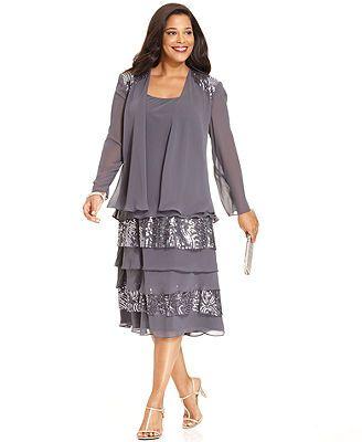 Sl fashions plus size bolero party dress