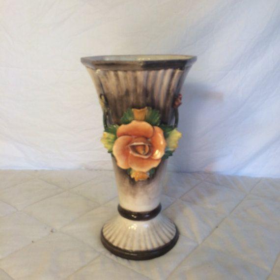 Capodimonte Vase Signed Capodimonte Vase Fine Italian Porcelain