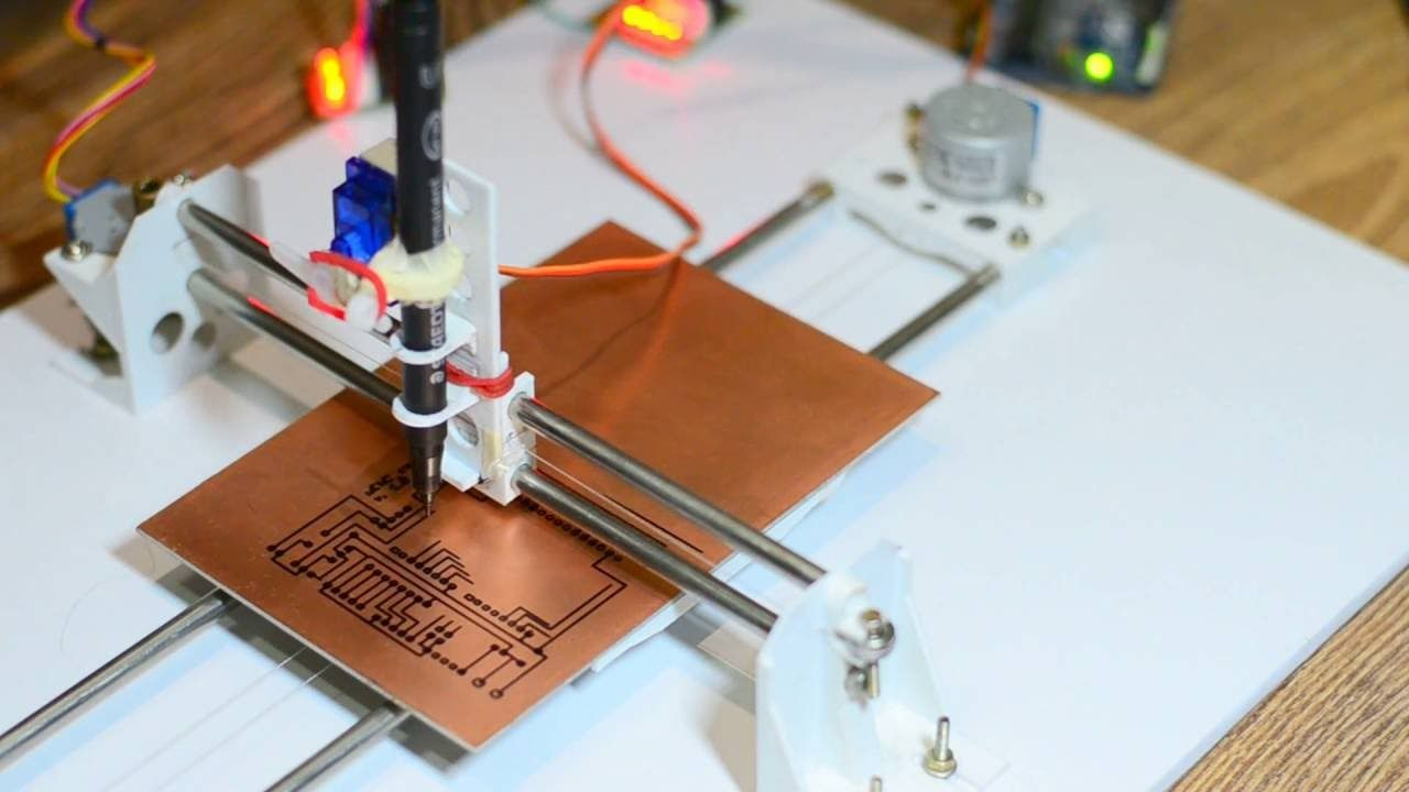 Diy Pcb Ink Plotter Using Arduino And Grbl Cnc Arduino Projects Diy Arduino Arduino Projects