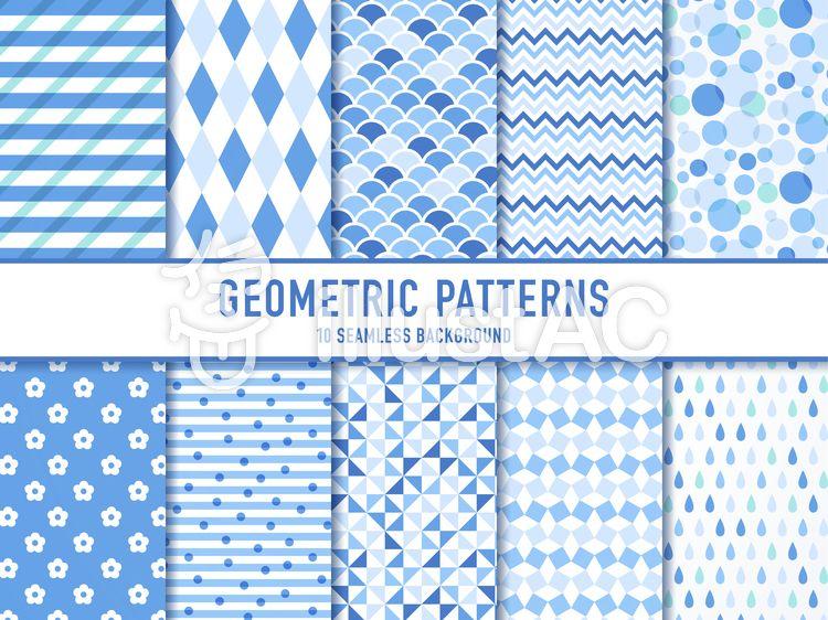 シンプルな幾何学模様のパターン(青) | 模様, テクスチャデザイン ...